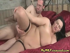 My MILF Chubby MILF in fishnet stockings fucked doggy style