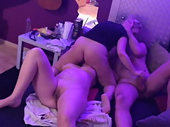 Swinger party at home, squirting