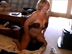 Old Wife Treated to Some Black Cock