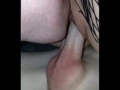 Eating my wife'_s pussy while she rides 19 year old'_s big fat cock - cuckhold - fucklick