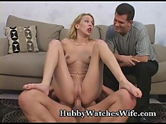 Hubby Watches Wife'_s Intense Orgasms